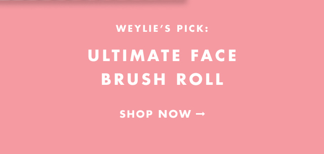 Weylie's Pick: Ultimate Face Brush Roll. Shop Now